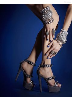 Accessorized: Halston Sandals, Alexis Bittar (Ring Finger Left Hand), Janis Savitt (Middle Finger Left Hand), Alexis Bittar (Pointer Finger Right Hand Jewelry Editorial, Editorial Fashion, Shoes 2014, Best Diamond, Stylish Jewelry, Fashion Jewelry, Diamond Are A Girls Best Friend, Hair Jewelry, Jewelry Box