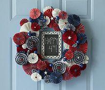 patriotic wreath yo yo look