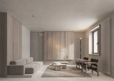 Neutral Modern-Minimalist Interior Design: 4 Examples That Masterfully Show Us How Minimalist Dining Room, Minimalist Interior, Minimalist Living, Modern Minimalist, Interior Design Examples, Interior Design Inspiration, Home Interior Design, Interior Sketch, Nordic Interior
