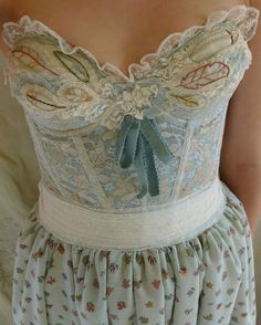 Sage Brush Bustier Dress... wedding formal gown by jadadreaming