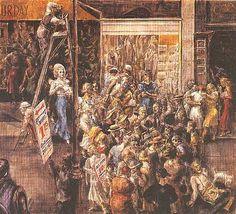 In Fourteenth Street, 1934, by Reginald Marsh (American, 1898-1954).