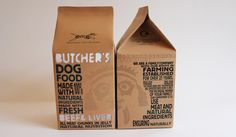 Butchers Dog Food - Brand Identity and Packaging by Ben Browning, via Behance