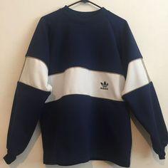 ADIDAS Vintage Poly Sweatshirt bleu marine blanc par BOYGIRLVINTAGE