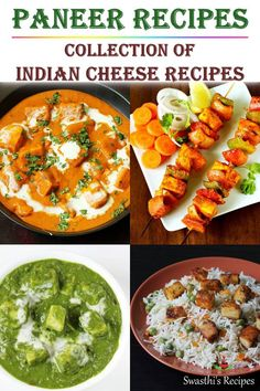 Collection of 60 Indian paneer recipes with videos & detailed step by step photos. Home style & restaurant style healthy recipes using Indian cottage cheese. Paneer Cheese Recipes, Indian Paneer Recipes, Veg Recipes, Curry Recipes, Indian Food Recipes, Cooking Recipes, Healthy Recipes, Healthy Indian Recipes Vegetarian, Vegetarian Curry
