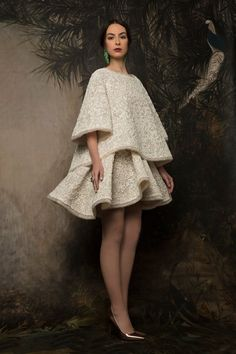 """BN Bridal: """"Reincarnation"""" The Krikor Jabotian Collection Midi Dress With Sleeves, Lace Dress, Dress Up, White Dress, Girly Outfits, Pretty Outfits, Krikor Jabotian, Bride Look, Maternity Dresses"""