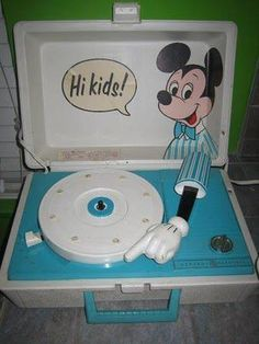 Mickey Mouse record player, first player I had.  I got my use out of this thing.