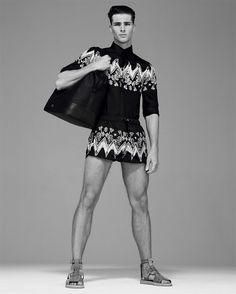 Edward Wilding Stars in Versace Collection Spring/Summer 2014 Lookbook
