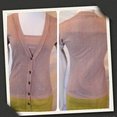 🌿Loft Cardigan-S Super cute and Casual dip dyed cardigan.  Never Worn.   Loft Size Small. LOFT Sweaters Cardigans