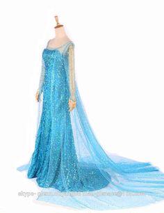 Frozen Elsa Queen Adult Women Dress Costume Cosplay Dress