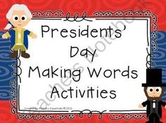 Presidents Day Making Words Activities product from Primary-Essentials on TeachersNotebook.com