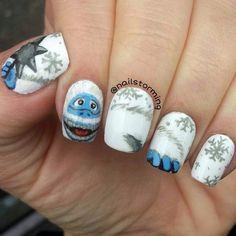 abominable snowman by nailstorming #nail #nails #nailart