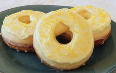 Lemon Cupcake Baked Donuts with Lemon Frosting - Sugar and Spice and All Things Iced