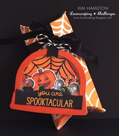 Lawn Fawn, Lawnscaping Challenges, Spooktacular, Monster Mash Halloween shaker tag using ready set snow globe