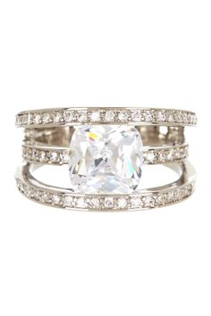 Triple Row Diamond Ring  ♥