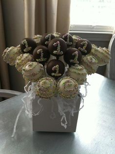 Chocolate Covered Birthday cake Pops Frost the by FrosttheCake, $22.00