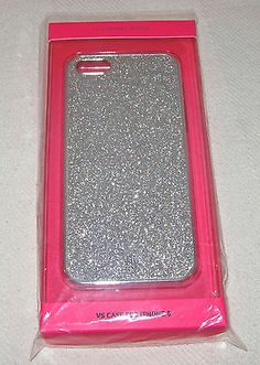 Victoria's Secret Silver Glitter Bling iPhone 5 5S 5C Hard Cell Phone Case New