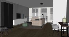 Interieurontwerp nieuwbouwwoning in Arnhem door Lenny Combé Design Divider, Doors, Interior Design, Furniture, Home Decor, Nest Design, Decoration Home, Home Interior Design, Room Decor