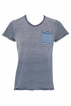 Blend Pocket Striped T-shirt