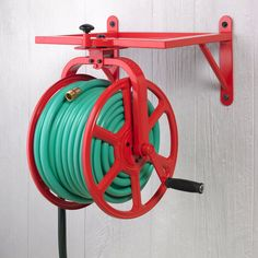 Amazon.com : Liberty Garden 713 Revolution Multi Directional Hose Reel, Red : Patio, Lawn & Garden