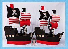 Marciartes em E.V.A: Trabalho entregue: Decoração de mesa no tema Piratas.