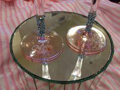 DIY Mr. and Mrs. Champagne Glasses