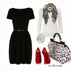 Just a Splash of Red Outfit Style Me, Cool Style, Bon Look, Fashionista Trends, Glamour, Look Chic, Chic Chic, Up Girl, Work Fashion