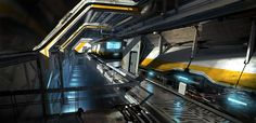 Scifi Corridor by Erik van Helvoirt Spaceship Interior, Futuristic Interior, Overwatch, Sci Fi Background, Sci Fi News, Sci Fi Environment, 3d Fantasy, Alien Planet, Science Fiction Art