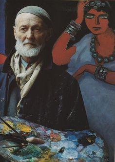 Kees van Dongen in his studio