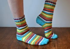 field wonderful: december socks (quaere fibre in tokyo underground colorway)