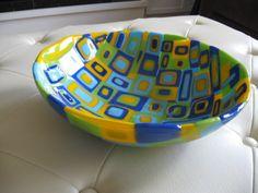 Colorful+Fused+Glass+Bowl+by+SeaShellsGlass+on+Etsy,+$200.00