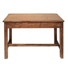 Early Primitive 18thc  Handmade Walnut Side table   From a unique collection of antique and modern side tables at https://www.1stdibs.com/furniture/tables/side-tables/