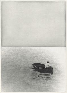 John Baldessari. Boat (With Figure Standing) from the portfolio Hegel's Cellar. (1986)
