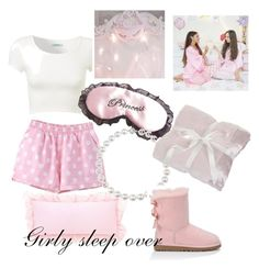 """♡Girly Sleepover"" by yourstrulykarly ❤ liked on Polyvore featuring UGG Australia"