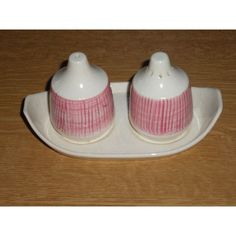 Retro Devon Honiton Pottery Cruet Set Listing in the Devon & Torquay…