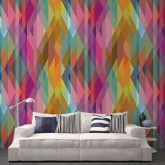 Une réelle explosion de couleur, le papier peint Prism tire son inspiration du modèle Circus de Cole and Son. Il apporte un vrai dynamisme à vos pièces.