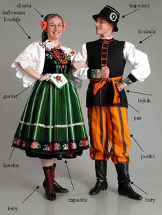Strój łowicki Rare Clothing, Folk Clothing, Poland Costume, Folklore, Polish Embroidery, Polish Clothing, Polish Folk Art, Costumes Around The World, Frozen Costume