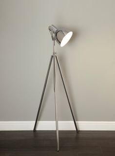 Bhs Lighting Floor Lamps: Chad Chrome Floor Lamp - View All Lighting & Bulbs - Home, Lighting &  Furniture,Lighting