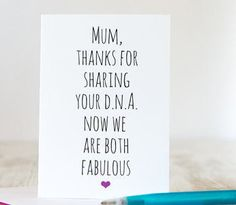 Funny mother's day card - Mum awesome DNA -! Mother's Day Card