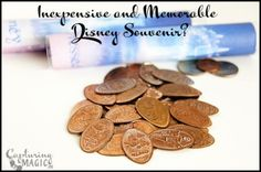 Inexpensive Affordable Memorable Disney Souvenir - with links out to other posts that may help you make the most of Disney pressed penny collecting!
