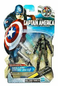 Captain America Movie 4 Inch Series 3 Action Figure #12 Marvels Hydra Armored Soldier by Hasbro. $5.95. Figure comes with weapon accessories!. The soldiers who serve RED SKULL are equipped with the latest bioshield armor and weaponry. Their dual flamethrowers and missile launchers inspire fear in all but the most hardened warriors. Together they carry enough firepower to take on an entire armybut that wont stop CAPTAIN AMERICA from taking them down!