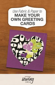 Whether it's a simple greeting, a thank you or a specific holiday, cards are perfect for any occasion. Jessica Giardino shows you how making greeting cards can be a fun, quick and easy project. Scrap Fabric Projects, Sewing Projects, Sewing Hacks, Sewing Crafts, Embroidery Cards, Sewing Circles, Fabric Cards, Making Greeting Cards, Fabric Decor