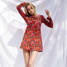 Dress: wayf festival floral boho mini floral long sleeve printed