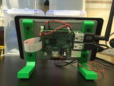 Raspberry Pi Touchscreen Stand by matt448 - Thingiverse