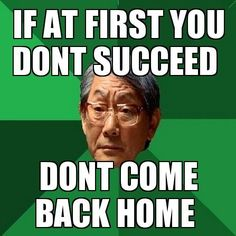 High Expectations Asian Father: You turn off game console. Funny Asian Memes, Asian Humor, Funny Memes, Funny Quotes, Jokes, Asian Dad, Asian Parents, Dad Meme, Chistes