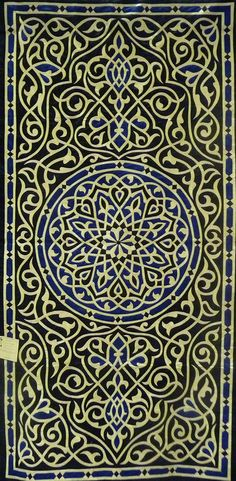 Beautiful khayamiya work - Mohammed Hashem Islamic AL Roumi Design 0.90 x 1.80 m