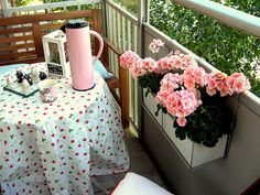 10 Inspiring Small Space Balcony Gardens: I think these would work for small decks and patios, too!