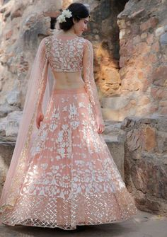 Looking for Light pink lehenga by Astha Narang? Browse of latest bridal photos, lehenga & jewelry designs, decor ideas, etc. Indian Lehenga, Lehenga Sari, Lehnga Dress, Pink Lehenga, Bridal Lehenga, Floral Lehenga, Sarees, Ghagra Choli, Sabyasachi