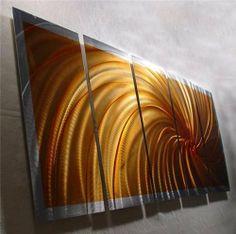 Wow - 64 inch x 24 inch Original Abstract Metal Painting Wall Art and Sculpture by Nider Internationally Acclaimed Artist of Contemporary Abstract Art for Home or Office Decor with a Modern Feng Shui influence by NiderArt. $297.00. Sculpted entirely by hand. High Quality, Durable Rust Proof Aluminum Sculpture, Hand made in the USA!. Signed by the artist: Nider. Your metal wall art comes with easy to use hardware and hanging instructions, eliminating the need for costly framing....