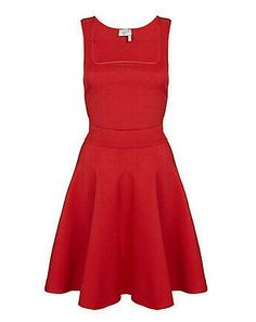 Lanvin Knitted Billiant Red Flare Dress  $2,297