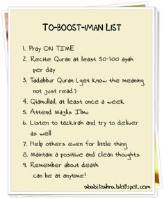 TO-BOOST-IMAN LIST